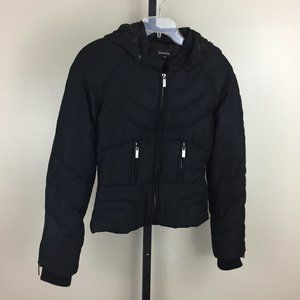 BEBE feather filled puffer hooded jacket